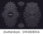 vector set of monogram design... | Shutterstock .eps vector #1441828316