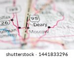 Small photo of Deary on a geographical map of USA