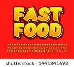 fast food sticker font effect....   Shutterstock .eps vector #1441841693