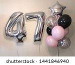 composition of helium balls of... | Shutterstock . vector #1441846940