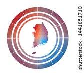 south korea badge. bright... | Shutterstock .eps vector #1441851710