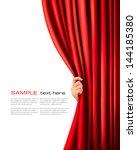 background with red velvet... | Shutterstock .eps vector #144185380