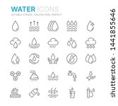 collection of water related... | Shutterstock .eps vector #1441855646