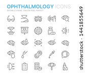 collection of ophthalmology... | Shutterstock .eps vector #1441855649