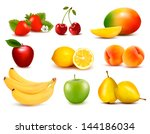 big group of different fruit.... | Shutterstock .eps vector #144186034