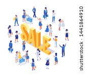isometric people vector set.... | Shutterstock .eps vector #1441864910