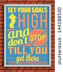 colorful retro vintage...   Shutterstock .eps vector #144188530