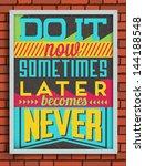 colorful retro vintage... | Shutterstock .eps vector #144188548