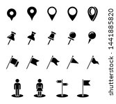 pin location mark sign icon set ... | Shutterstock .eps vector #1441885820