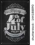 vintage style independence day... | Shutterstock .eps vector #144188890