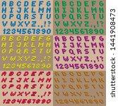 3d font and english alphabet... | Shutterstock .eps vector #1441908473