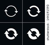 4 arrow sign reload  refresh ...   Shutterstock .eps vector #144191593