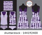 pajama set   female fashion...   Shutterstock .eps vector #144192400