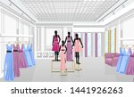 fashion boutique with dresses...   Shutterstock .eps vector #1441926263