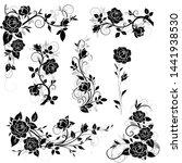 set of decorative calligraphic ... | Shutterstock .eps vector #1441938530