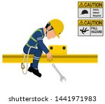 an industrial worker dropped...   Shutterstock .eps vector #1441971983