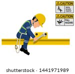 an industrial worker with...   Shutterstock .eps vector #1441971989