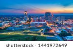 Winston-Salem North Carolina NC Skyline Aerial.