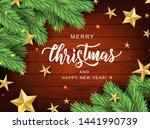 merry christmas hand lettering... | Shutterstock .eps vector #1441990739