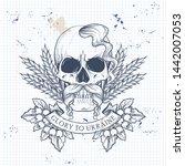 notebook page sketch design ... | Shutterstock .eps vector #1442007053