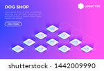 dog shop web page template with ...   Shutterstock .eps vector #1442009990