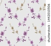 seamless pattern small wild... | Shutterstock . vector #1442010506