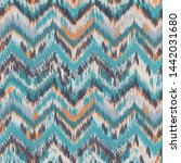 seamless ikat pattern. abstract ... | Shutterstock .eps vector #1442031680