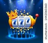 king slots 777 banner casino on ... | Shutterstock .eps vector #1442060360