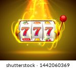 gold slot machine wins the... | Shutterstock .eps vector #1442060369