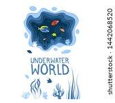 underwater world design with... | Shutterstock .eps vector #1442068520