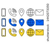 contact information icons... | Shutterstock .eps vector #1442073350