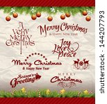 christmas decoration collection ... | Shutterstock .eps vector #144207793