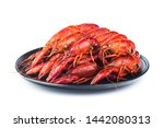 Crayfish. A Plate Of Cooked...