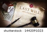 last will and testament with... | Shutterstock . vector #1442091023