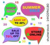 set of summer sale stickers.... | Shutterstock .eps vector #1442096180
