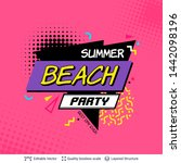 summer party ad background in... | Shutterstock .eps vector #1442098196