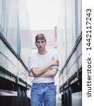 handsome young man in european...   Shutterstock . vector #1442117243