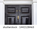house number 45 with the forty... | Shutterstock . vector #1442128463