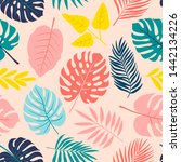 tropical seamless pattern with...   Shutterstock .eps vector #1442134226