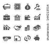 simple financial icons. | Shutterstock .eps vector #144213514