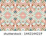 tribal vector ornament.... | Shutterstock .eps vector #1442144219