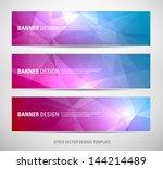 a set of modern vector banners... | Shutterstock .eps vector #144214489