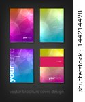 a set of modern vector brochure ... | Shutterstock .eps vector #144214498