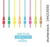 Jack Plug. Colorful. Vector...