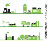 eco power plants and facilities   Shutterstock .eps vector #144217000