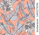 summer bright seamless pattern... | Shutterstock .eps vector #1442173196
