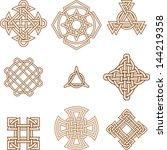 celtic symbols   Shutterstock .eps vector #144219358