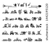 farming equipment icons set.... | Shutterstock .eps vector #1442195120