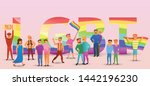 transgender people concept...   Shutterstock .eps vector #1442196230