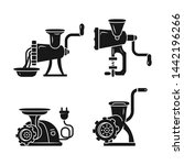 meat grinder icons set. simple... | Shutterstock .eps vector #1442196266
